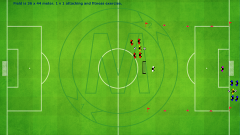 1 v 1 attacking and fitness exercise_ by Matthew