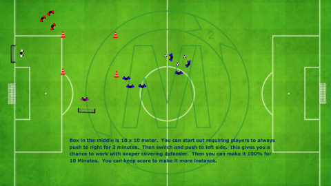 1 v 1 Attacking and Defending with Goalkeeper_ by Matthew