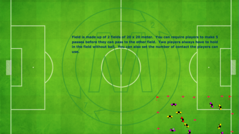 2 Zone Game (3v3) and (2v2) Plus 1 Neutral Player_ by Matthew