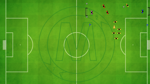 4v3 transition game_(rotation after attack_size of field is 35 x 45 meter)_by Matthew