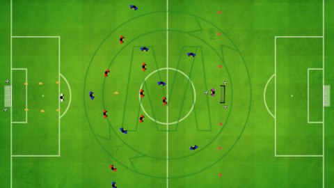 9 v 9 Game with defensive zone in front of goal_ by Matthew