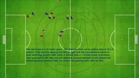 Defensive warmup 1v1 using angle run_ by Matthew