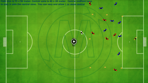 8 v 8 game with middle zone_ by Matthew