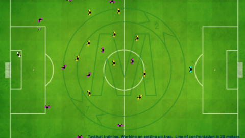 4-2-3-1 Tactical Defensive Movement With 30 Meter Line of Confrontation_ by Matthew