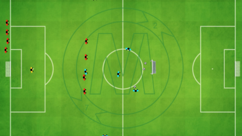 Working With The 4 Defenders and offensive Players Movement (5 v 6) Option 2_by MNO