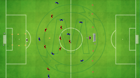 9 v 9 Game with defensive zone in front of goal_ by MNO_