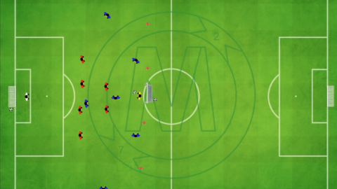 7 v 7 Tactical Defensive Session (4 defender and 2 central midfielders) with build up_MNO
