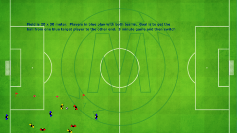 3 Team Target Forward plus 1 Neutral Player possession game_ by Matthew
