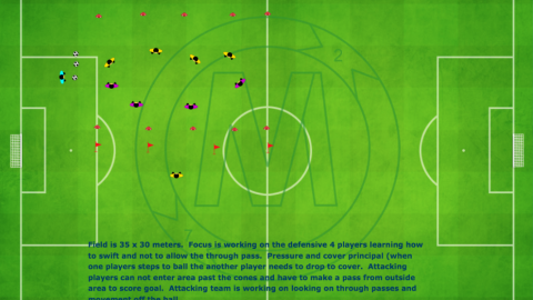 4 v 4 Game With Two Wide Goals And A Target Player_ by Matthew