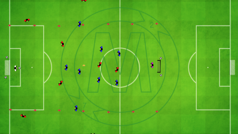 Attacking Game with Outside Zone (2 centre midfielders buildup)_ by Matthew
