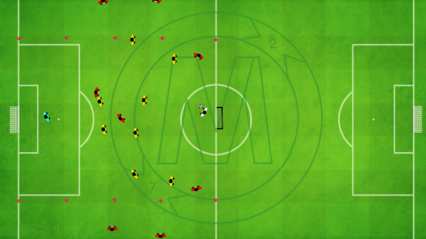 Attacking in Offensive Third 9 v 9 With Outside Zone_by Matthew