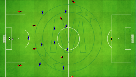 Build up using center forward (4-4-2)_by Matthew