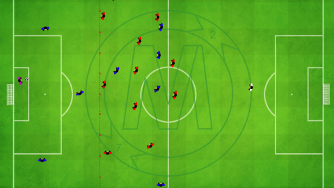Defending in Attacking Third With 30 Meter Line Of Confrontation(set trap in middle)_by Matthew