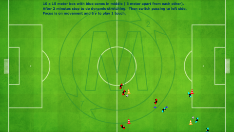 Passing Sequence 4 Angle With Centre Player Exercise_ by Matthew