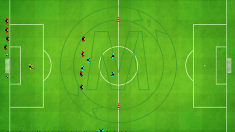 Working With The 4 Defenders Players Movement (5 v 6)_by Matthew